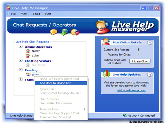 live chat service