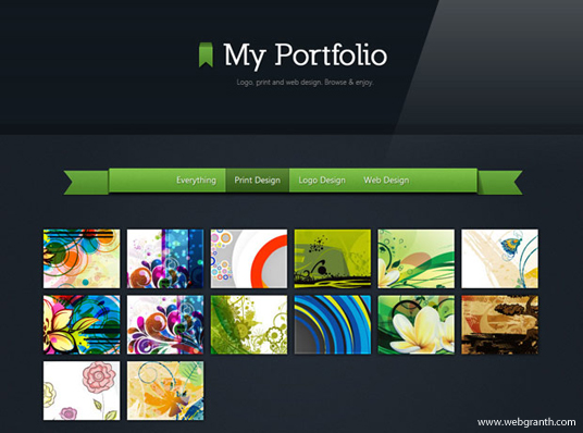 elements of a portfolio page