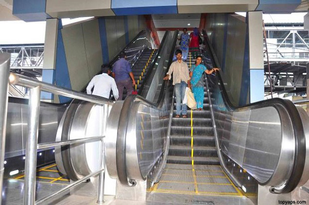 Metro-escalator